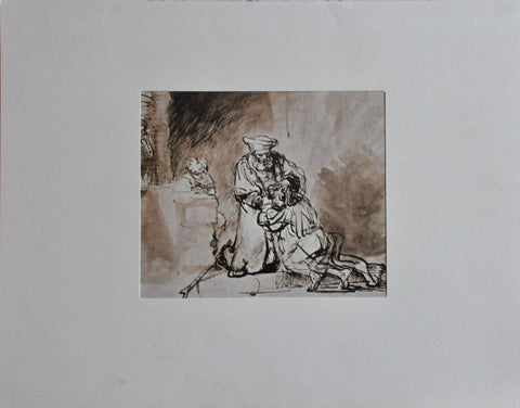 Vintage Rembrandt van Rijn 'The Return of the Prodigal Son' Print. Penn Prints