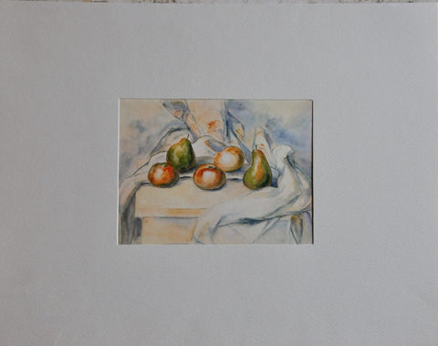 Vintage Paul Cazanne 'Still Life with Pears and Apples' Print. Penn Prints