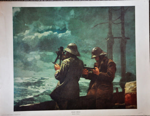 "Vintage Lithograph of Eight Bells by Winslow Homer 26"" x 20"""