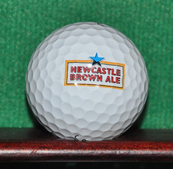 Newcastle Brown Ale England Logo Golf Ball. Titleist Pro V1