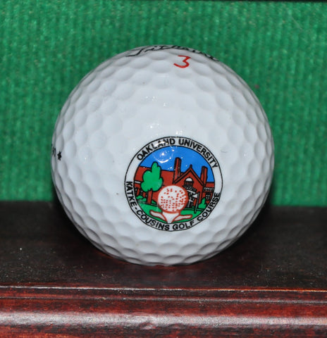 Oakland University Detroit Michigan Logo Golf Ball. Titleist