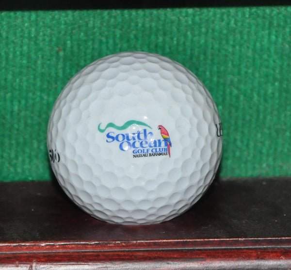 South Ocean Golf Club Nassau Bahamas Logo Golf Ball