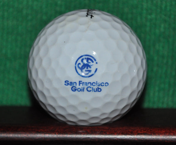 San Francisco Golf Club logo golf ball. Titleist