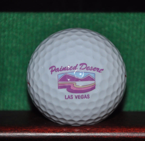 Painted Desert Golf Club Las Vegas Nevada logo golf ball.