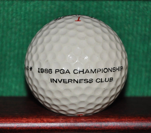 Practice Ball from the 1986 PGA Championship at the Inverness Club in Toledo Ohio