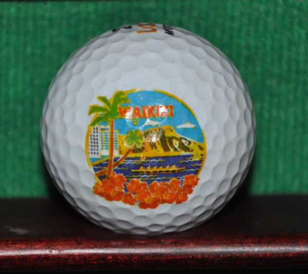 Waikiki Beach Hawaii logo golf ball.