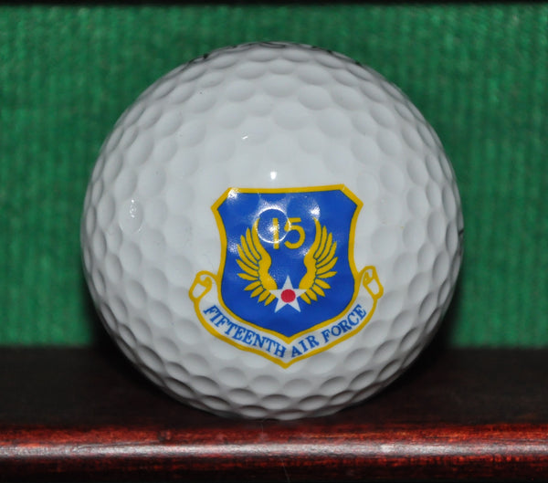 USAF United States Fifteenth Air Force 615th Air Mobility Support Group logo golf ball.
