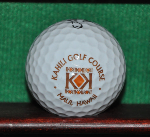 Kahili Golf Course Maui Hawaii logo golf ball. Callaway