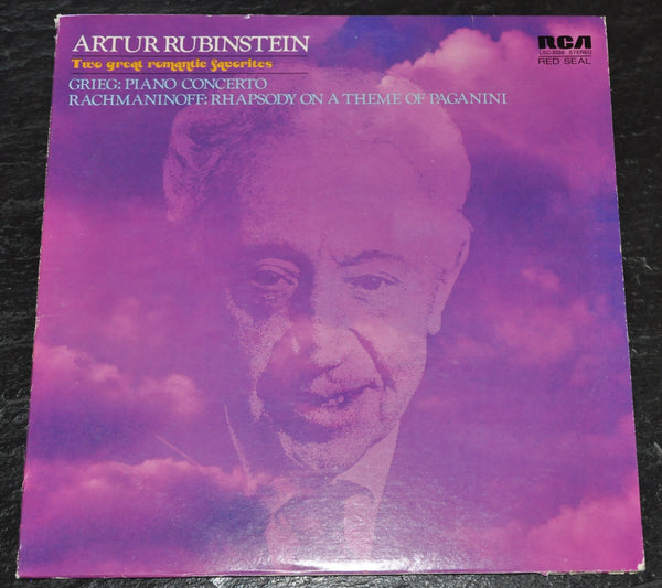 Artur Rubinstein Two Great Romantic Favorites Grieg Rachmaninoff LP