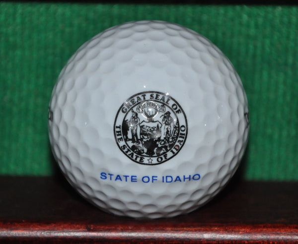 Great Seal of the State of Idaho logo golf ball. Excellent Condition
