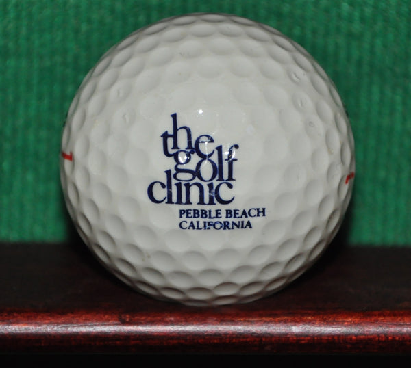 Vintage The Golf Clinic at Pebble Beach California logo golf ball