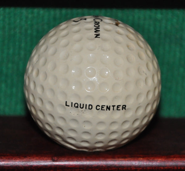 Vintage Golden Crown Golf Ball. Liquid Center. Circa 1950
