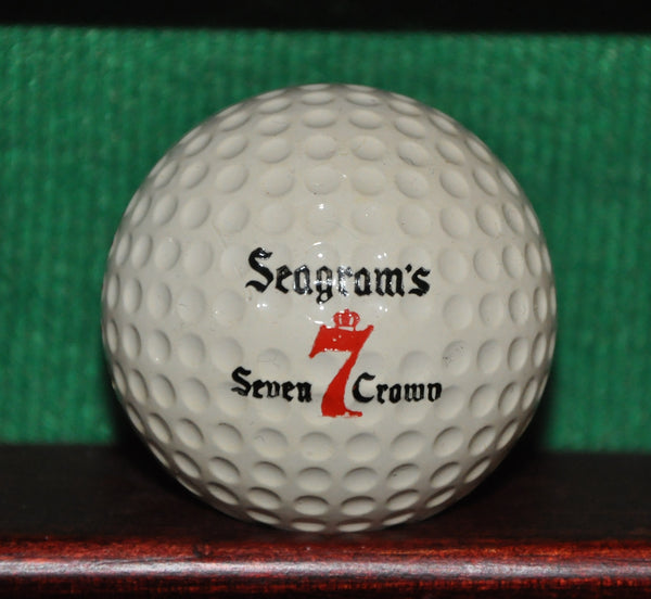 Vintage Seagram's Seven Crown Whiskey Logo Golf Ball. Excellent Condition.  Liquid Center