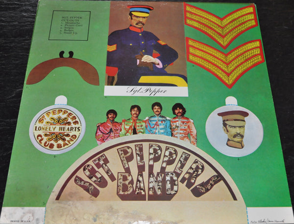 Sgt. Peppers Lonely Hearts Club Band LP by the Beatles with Two Inserts