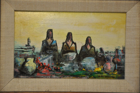 Original Hector Lara Orozco Oil Painting Oil on Wood