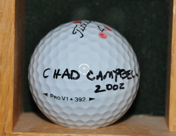 PGA Tour Player Chad Campbell Autographed Golf Ball from the Memorial Tournament