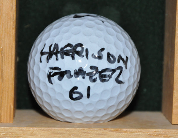 PGA Tour Player Harrison Frazer Personal Golf Ball from the Memorial Tournament 2001