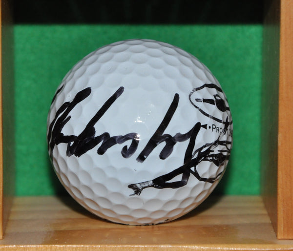 PGA Tour Player Mark Hensby Autographed Golf Ball