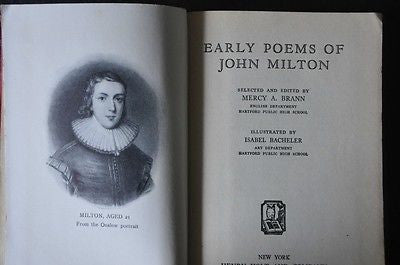 John Milton: The Early Poems, 1939 edition with illustrations.