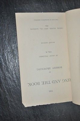 The Ring And The Book, Volume II, 1872. Second Edition.