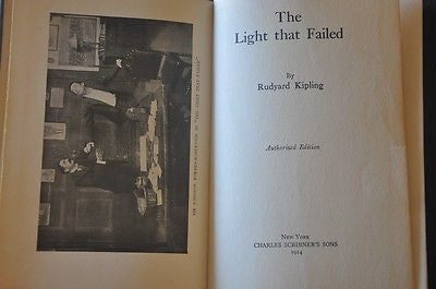 The Light That Failed, 1914. Rudyard Kipling.