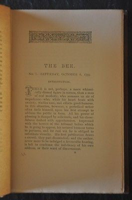 The Bee and Other Essays, 1893. First American Edition.