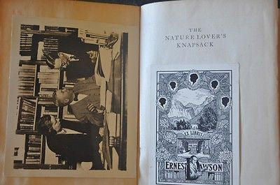 Nature Lover's Knapsack. 1927. Edited by Edwin O. Grover.