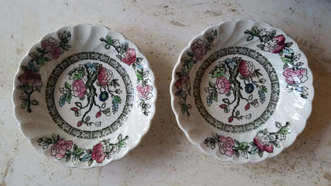 "Myott Fine Staffordshire Ware ""Indian Tree"" bowls"