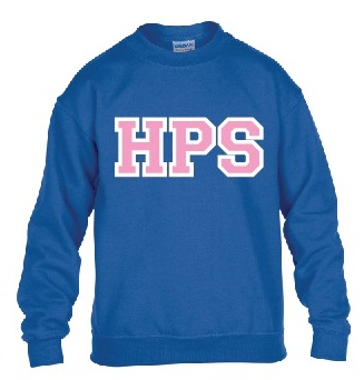 Youth Royal Crew Sweatshirt with Pink/White HPS