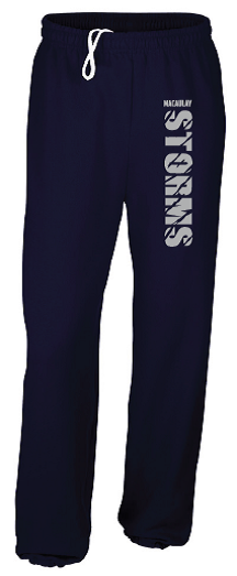 Youth Navy Pant with Grey Logo