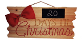 Christmas Countdown Wood Plaque