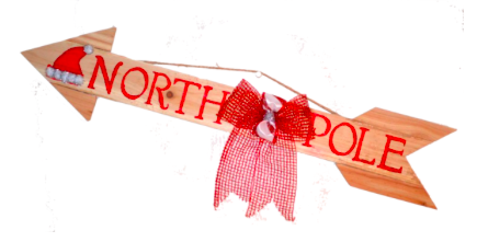 North Pole Wooden Arrow