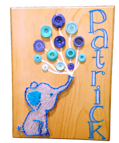 Button & String Art Nursery Decor