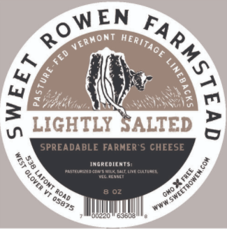 Lightly Salted Spreadable Farmer's Cheese - Sweet Rowen Creamery