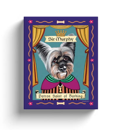 "Custom Art - Retro Pets ""Patron Pooch"" 8x10 Canvas Wrap for Murphy the Yorkie!"