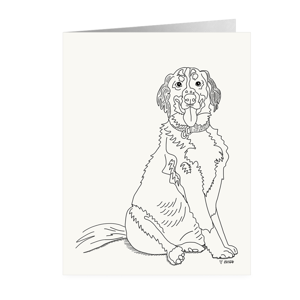 Bernese Mountain Dog Line Art - Small Notecards, Blank Inside