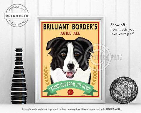 "Border Collie Art ""Brilliant Border"" Art Print by Krista Brooks"