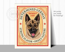 "Load image into Gallery viewer, German Shepherd Dog Art ""Determined German"" Art Print by Krista Brooks"