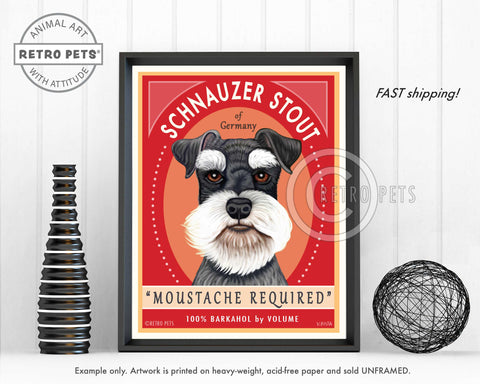 "Schnauzer Art ""Schnauzer Stout"" Art Print by Krista Brooks"