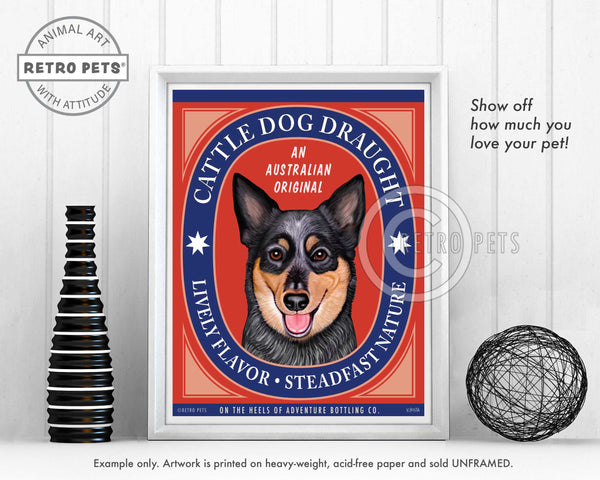 "Australian Cattle Dog Art ""Cattle Dog Draught"" Art Print by Krista Brooks"