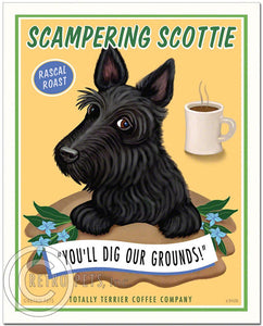 "Scottish Terrier Art ""Scampering Scottie"" Art Print by Krista Brooks"