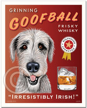 "Load image into Gallery viewer, Irish Wolfhound Art ""Grinning Goofball Frisky Whisky"" Art Print by Krista Brooks"