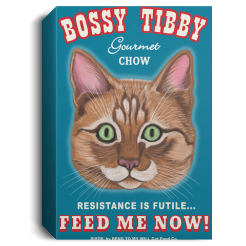 Bossy Tibby Custom Retro Pets Canvas