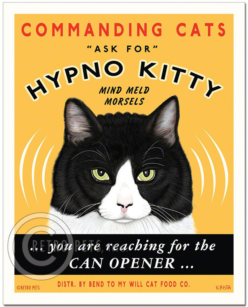 "Cat Art ""Hypno Kitty"" Art Print by Krista Brooks"