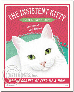 "Cat Art ""Insistent Kitty Bed & Breakfast"" Art Print by Krista Brooks"