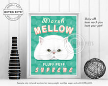 "Load image into Gallery viewer, Cat Art ""Marsh Mellow"" Art Print by Krista Brooks"