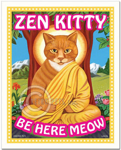 "Cat Art ""Zen Kitty"" Art Print by Krista Brooks"