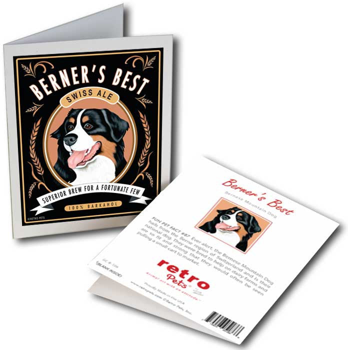bernese mountain dog art berners best 6 small greeting cards by - Dog Greeting Cards