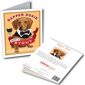 "Dachshund Art ""Dapper Doxie"" 6 Small Greeting Cards by Krista Brooks"
