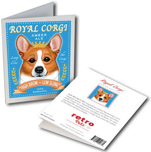 "Corgi Art ""Royal Corgi"" 6 Small Greeting Cards by Krista Brooks"